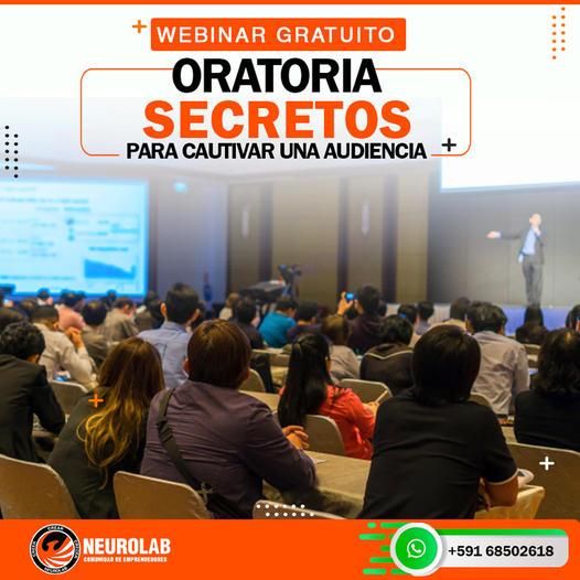 Webinar Gratuito: ORATORIA SECRETOS PARA CULTIVAR UNA AUDIENCIA